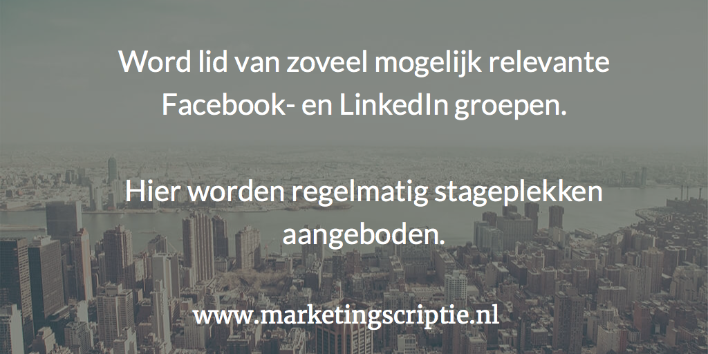 Marketing social media scriptie