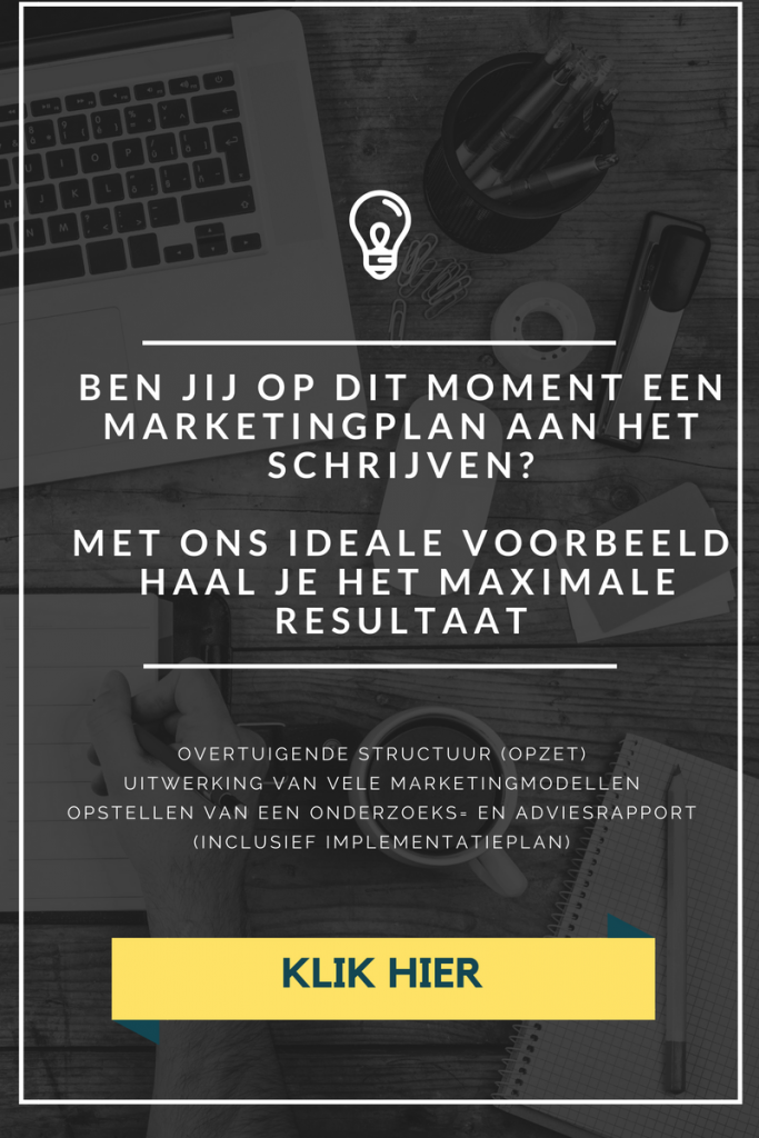 Strategisch marketingplan voorbeeld