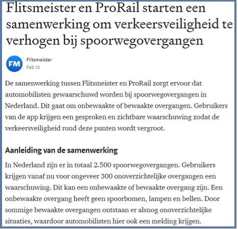 Voorbeeld persbericht Flitsmeister
