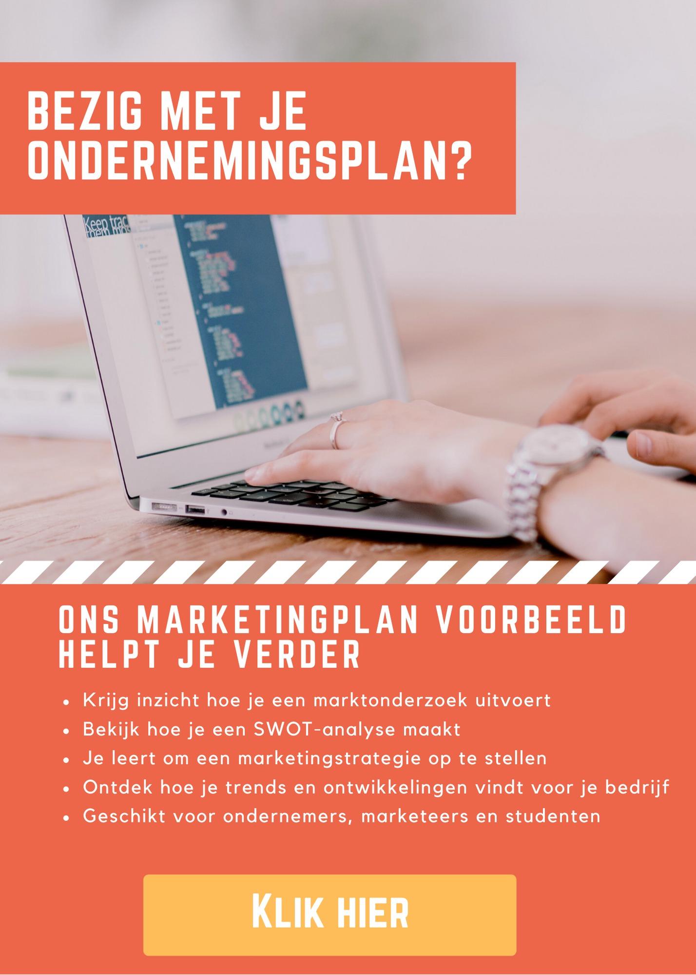 Marketingplan voor je ondernemingsplan